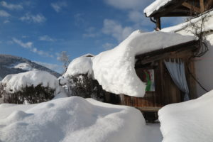 Gartensauna im Winter