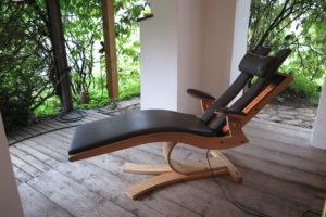 Infrarot-Relax-Liege aus Zirbenholz